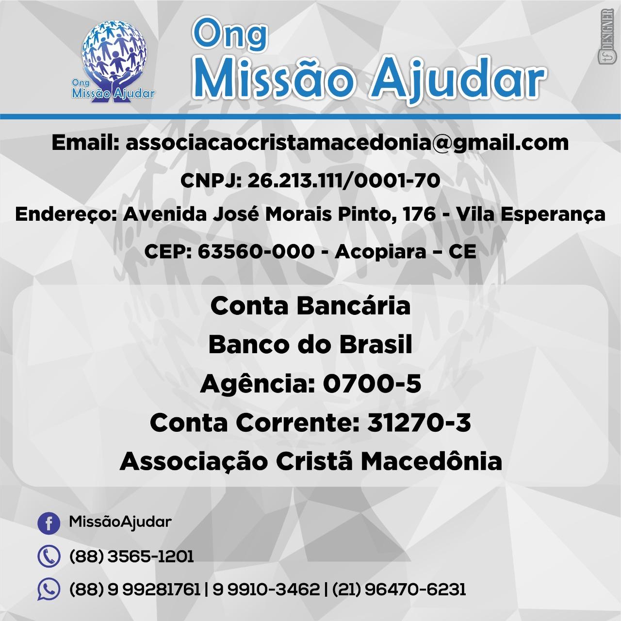 Missão ajudar - Conta - José Wedson